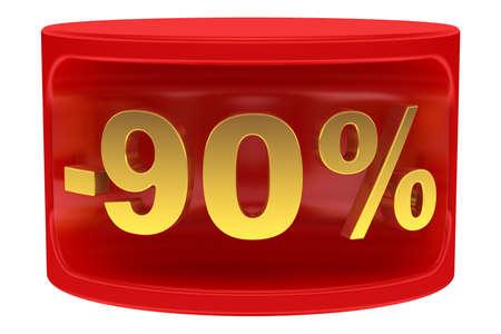 Sale sticker -90% photo