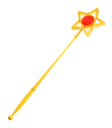 Abstract golden magic wand