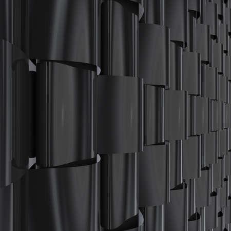 ruban noir: Illustration 3d abstraite de fond Banque d'images