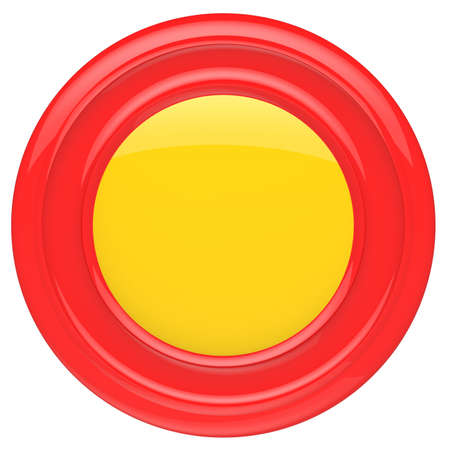 Empty red button isolated on white background  photo
