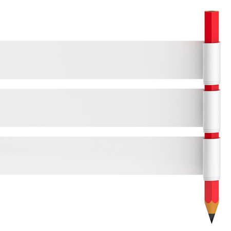 Abstract banner with pencil isolated on white background. Stock Photo - 16643437