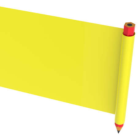 listing: Abstract banner with pencil isolated on white background.