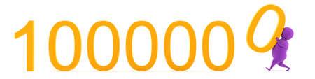 Already a million! Abstract 3d illustration. Stock Photo