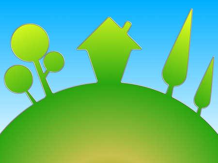 resumen de antecedentes con una casa y los �rboles