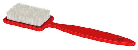 Ropa cepillo Roja. Aislado en un fondo blanco.
