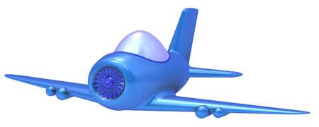 Avi�n de juguete abstracto aislado sobre fondo blanco. Foto de archivo