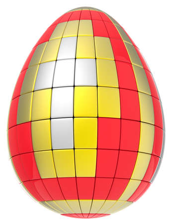 Abstract easter egg isolated on white background Stock Photo - 19072045
