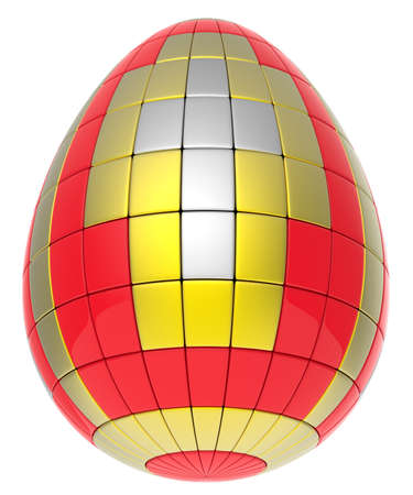 Abstract easter egg isolated on white background  Stock Photo
