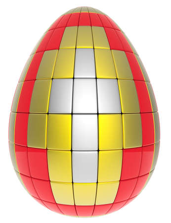 Abstract easter egg isolated on white background  Stock Photo - 19072038