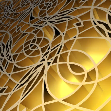 Abstract yellow background. Computer generated 3D rendering.