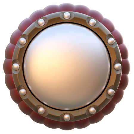 Etiqueta de c�rculo abstracto aislado sobre fondo blanco. Foto de archivo