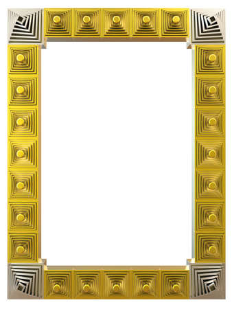 Abstract frame isolated on white background. 3d rendering. photo