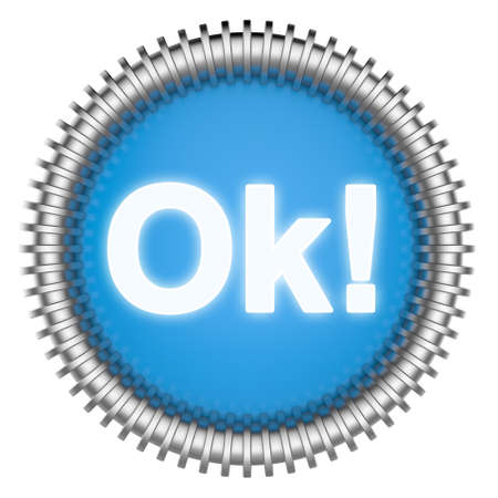 okey: Abstract 3d icon isolated on white background. Stock Photo