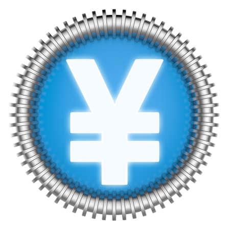 Icono abstracto 3d aislado en fondo blanco.