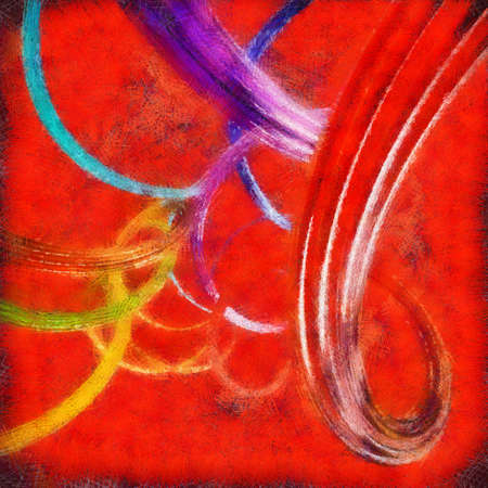 Resumen de fondo con coloridas cintas retorcidas onduladas. 3d con efectos de pintura. Foto de archivo