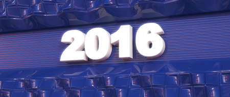 Abstract background. Word concept. Year 2016. 3d render. Stock Photo
