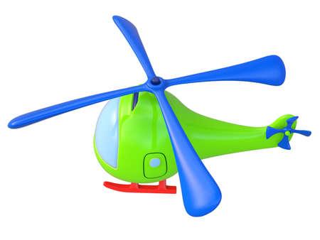 Helic�ptero de juguete abstracta aislado sobre fondo blanco. 3d.