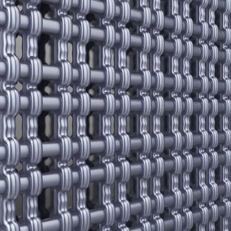Abstract metallic grid. Technological background. 3d render. Stock Photo