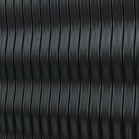 Fondo met�lico abstracto con estructura ondulada. 3d. Foto de archivo