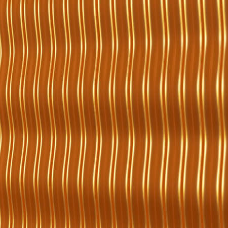 Abstract metallic background with wavy structure. 3d render. Stock Photo