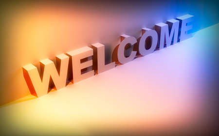 Abstract background with the word welcome. Stock Photo
