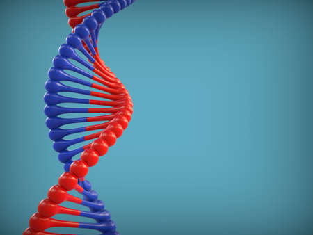 Abstract background with DNA icon. 3d rendering.