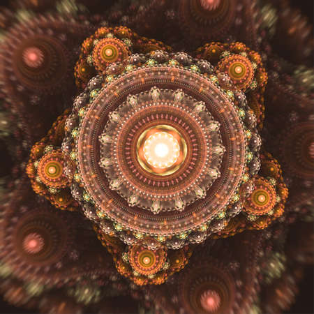 Abstract creativity fractal background with computer generated paint effect.