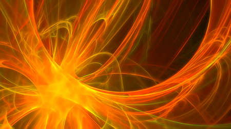Abstract creative fractal fantasy background with computer generated paint effect.