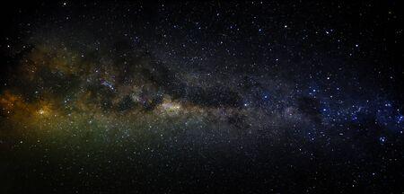 observing the Milky way in landscape scene