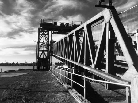 Adelaide bridge at the Harbour Landscape in B&W