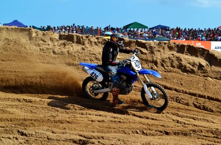 Sandrace with motocross in Villa Gesell Argentina
