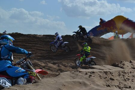 Summer Motocross race in the sand