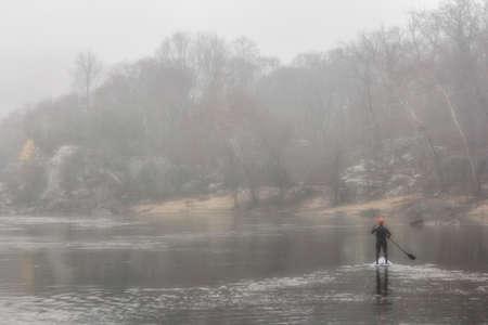 paddler: Paddler in the Fog