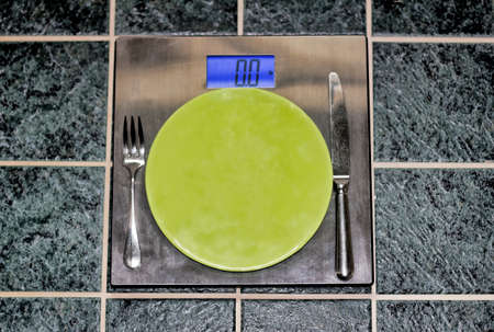 Place Setting on Weight Scale