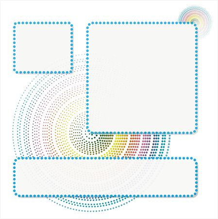 Abstract Doted Circle Background Illustration