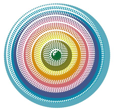 Abstract Doted Circle Eye Background