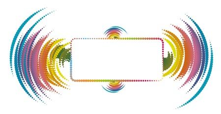 Champ de texte abstrait avec des éléments onde sonore Vecteurs
