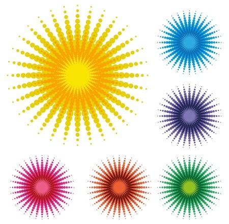 Abstract Dot Sun Illustration