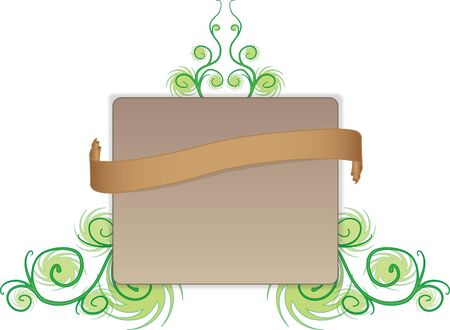Square Flyer With Ornaments and Ribbon