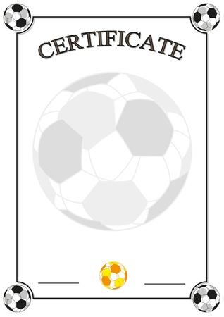 Football Certificate Illustration