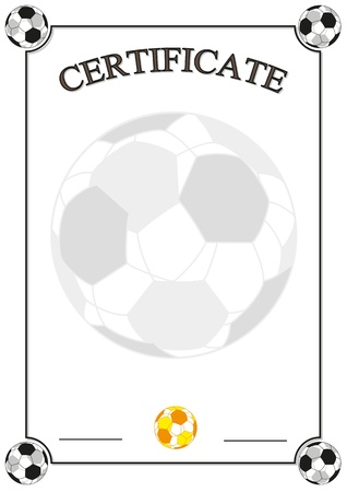 Football Certificate Illustration
