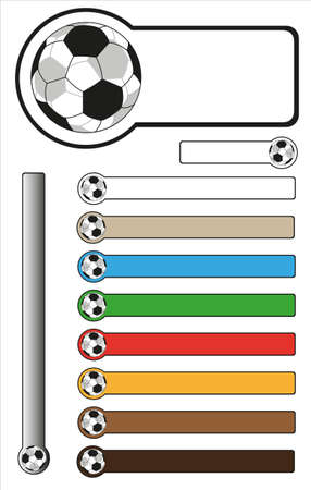 Football Bar Stickers With Copy Space