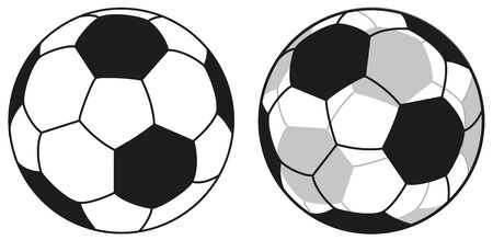 Traditional Football and Transparent Football Icon