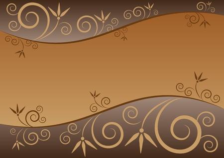 Elegant Floral Background in Horizontal Illustration