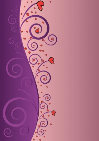 Elegant Violet Love Beauty Background For Valentines Day
