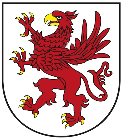 Zachodniopomorskie Province Crest - Red Griffin Illustration
