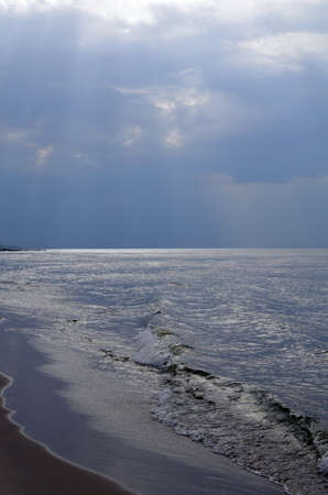 Baltic Landscape with ,Beach,Sea and Storm Clouds