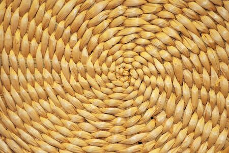 Spiral pattern from handmade straw bowl
