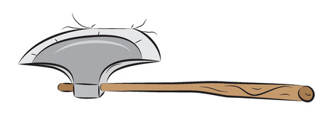 Sharp axe, hand weapon pounded on something
