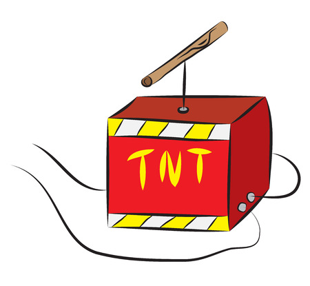 TNT box with igniter wired to explosive charge.